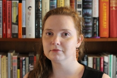 "M. K. Anderson writes literary and speculative fiction. Her short story ""Grizzly"" is slated for publication in Nightscript Volume III. Current obsessions: dead Greek philosophy dudes, any subculture specific to a time and place, and murder."